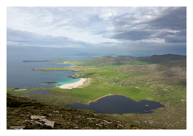 View north from Ben Tangavel, Barra