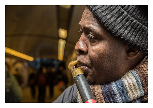 Casrolun, from Guinea in West Africa, playing the Fouta Dialon, London busker.