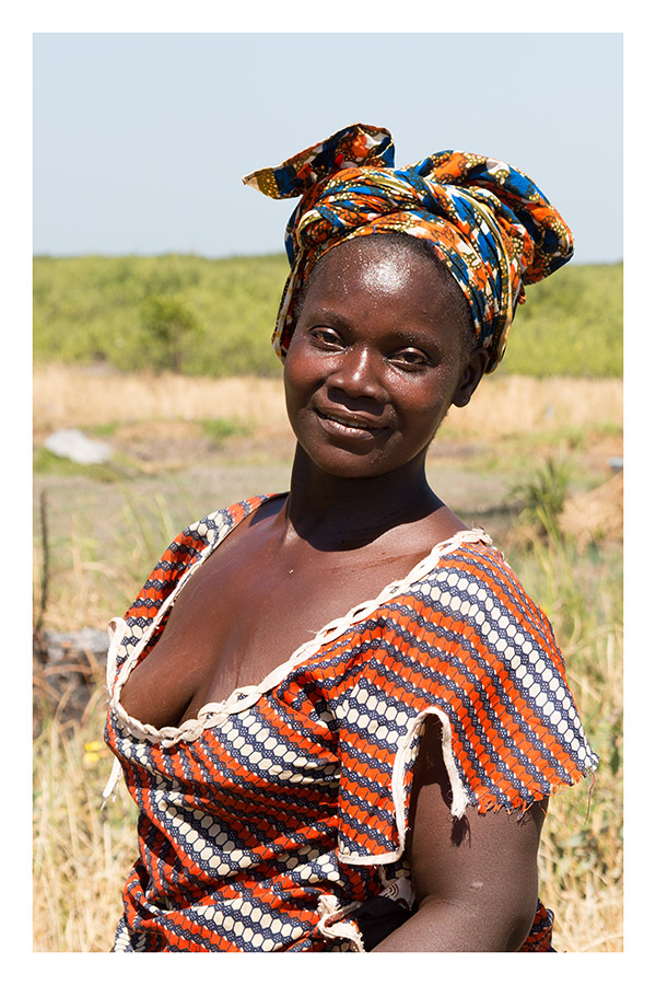 Portrait of Woman on Her Smallholding, The Gambia