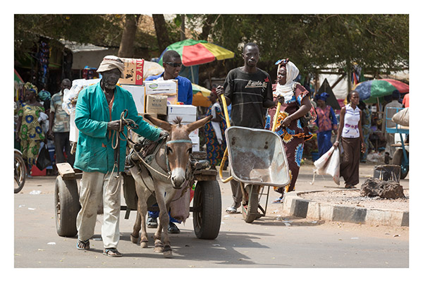 Rush Hour in an Upcountry Town, The Gambia