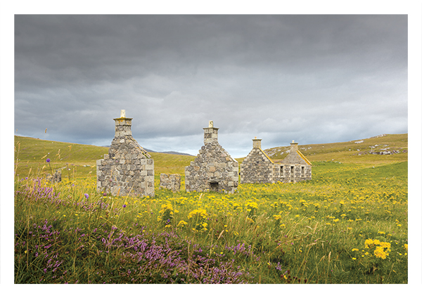 Abandoned cottages, Eorasdail village, Vatersay
